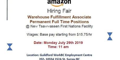 AMAZON Hiring Fair tickets