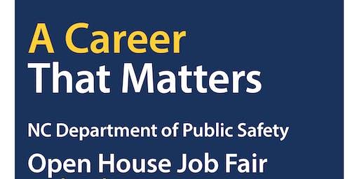 NC Department of Public Safety Open House Job Fair