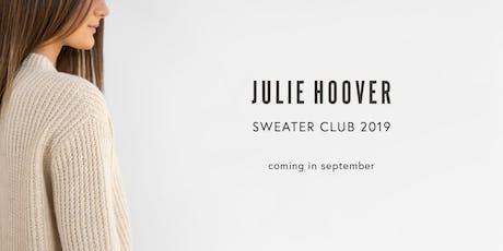Meet Julie Hoover + Sneak Preview of her Fall Sweater Club in Tibetan Cloud tickets