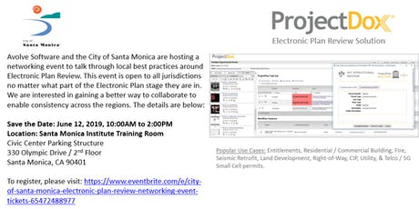 City of Santa Monica Electronic Plan Review Networking Event tickets