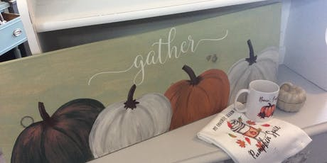 Wooden Pumpkin Paint and Letter Workshop tickets
