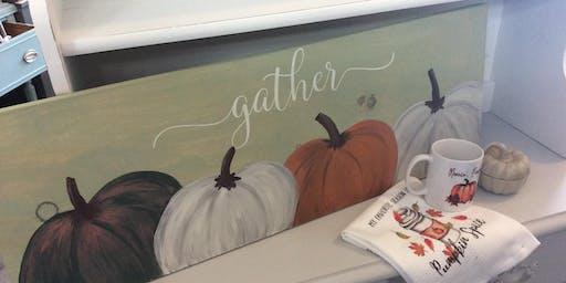 Wooden Pumpkin Paint and Letter Workshop