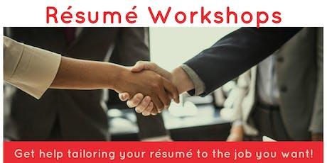 Résumé Workshop for Job Seekers tickets