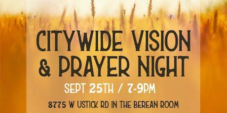 Vision & Prayer Night tickets