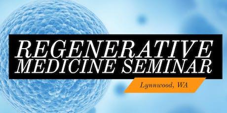 FREE Regenerative Medicine For Pain Relief Dinner Seminar - Lynnwood, WA tickets