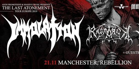 IMMOLATION/ RAGNAROK @ Rebellion, Manchester tickets