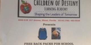Back Pack Give away