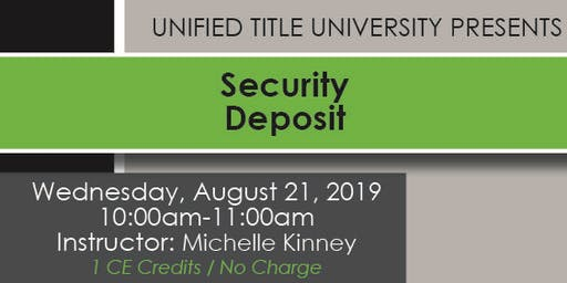 Colorado Springs - Security Deposit Class