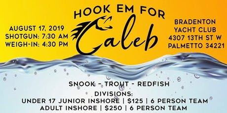 Hook Em for Caleb Fishing Tournament tickets
