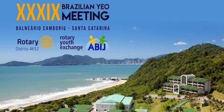 XXXIX Brazilian YEO Meeting - ABIJ Rotary, Distrito 4652 ingressos