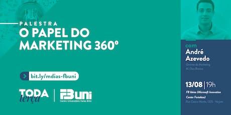 #TodaTerça - O papel do Marketing 360° ingressos