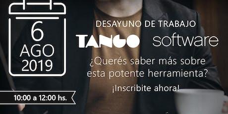 DESAYUNO DE TRABAJO TANGO SOFTWARE tickets