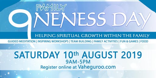 Family Oneness Day - Saturday 10th August 2019
