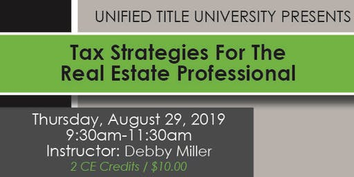 Colorado Springs - Tax Strategies For the Real Estate Professional