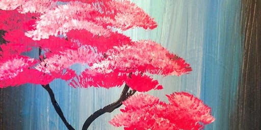 Sip 'N Paint - Cherry Blossom/Waterfall