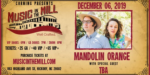 Mandolin Orange at Music in the Mill