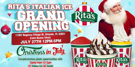Rita's Italian Ice & Frozen Custard Grand Opening tickets