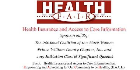 Health Insurance & Access to Care Health Fair tickets