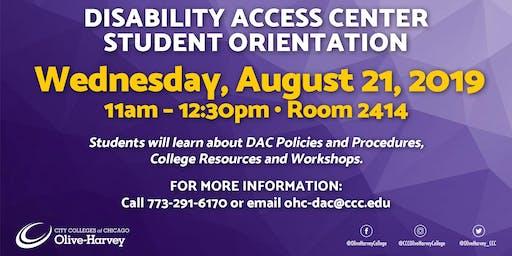 DAC Student Orientation