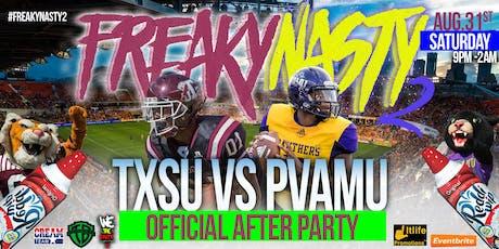 FREAKYNASTY2 **OFFICIAL TXSU VS PVAMU AFTER PARTY!! tickets