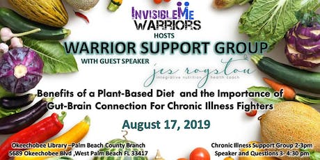 Benefits of Plant Based Diet for Chronic and Autoimmune Illness Fighters tickets