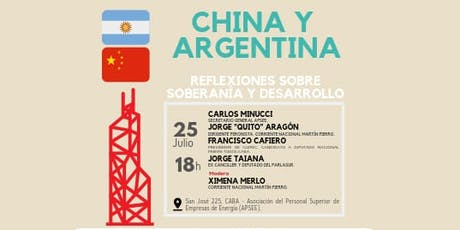 China y Argentina. Reflexiones sobre desarrollo. Conferencia. tickets