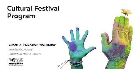 Cultural Festival Program Application Workshop tickets