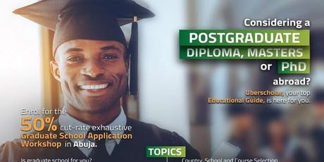 Pay ₦10,000 for the Graduate School Application Workshop at Event tickets