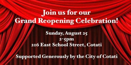 North Bay Theatrics Grand Reopening tickets