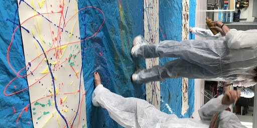 Adult Jackson Pollock workshop