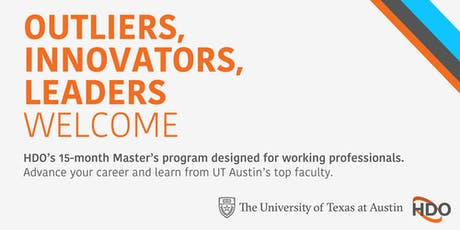 HDO at UT Austin: October 10 Online Info Session tickets