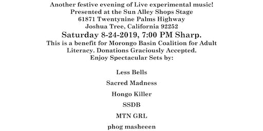 Experimental Sounds Tonight Presents: Fundraiser Concert for the Morongo Basin Coalition for Adult Literacy