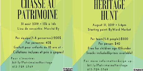 Chasse au patrimoine / Heritage Hunt tickets