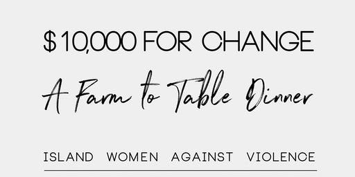 10,000 for Change - A Farm to Table Dinner