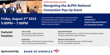 Navigating the ALPFA Convention Panel tickets