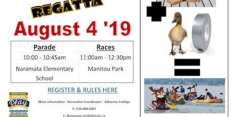 Naramata Cardboard Boat Regatta/Race tickets