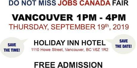 Vancouver Job Fair – September 19th, 2019 tickets