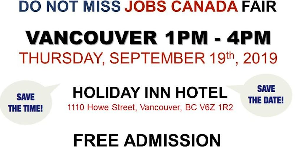 Vancouver Job Fair – September 19th, 2019 Tickets, Multiple