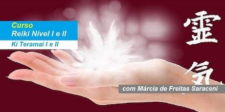 Márcia de Freitas Saraceni - Curso Reiki Nível I e II ingressos