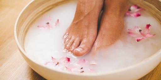 Essential Oils Detox Foot Soak w/ Crystal Bowl Sound Therapy