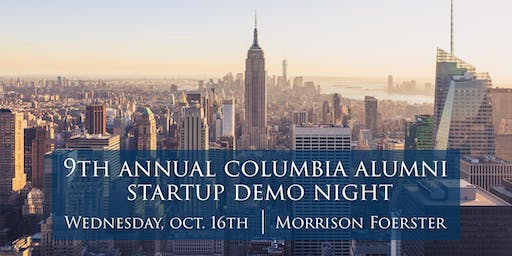 [CVC-NY] 9th Annual Columbia Startup Demo Night in New York City