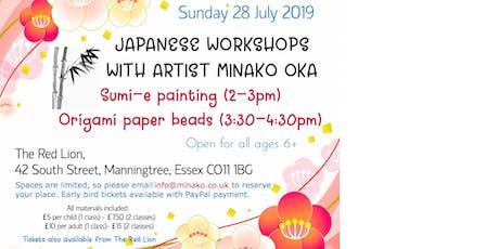 Japanese art workshops by Japanese artist in Manningtree tickets
