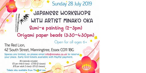 Japanese art workshops by Japanese artist in Manningtree
