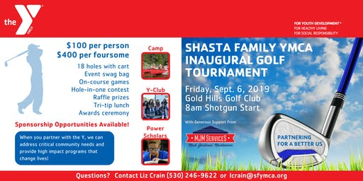 Shasta Family YMCA Inaugural Golf Tournament