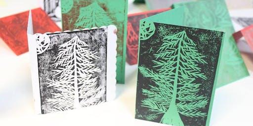 Festive Lino Printing at SCRAP