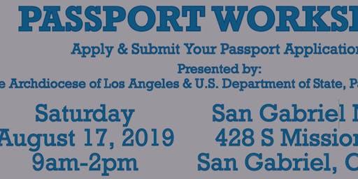 PASSPORT WORKSHOP AT SAN GABRIEL MISSION ON SATURDAY, AUG. 17TH