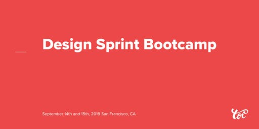 Design Sprint Bootcamp w/ the Toi founders