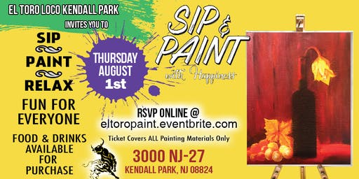 Sip and Paint Happiness at Eltoro