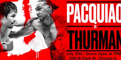 Pacquiao vs Thurman LIVE at Deuce's Major League Bar | Saturday, July 20th