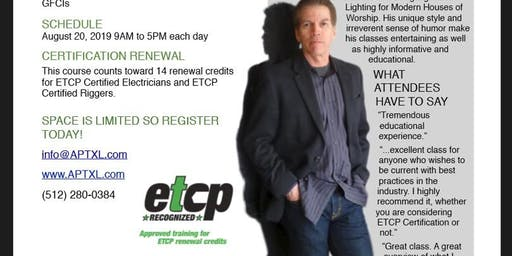 Entertainment Electrician Certification and Entertainment Electrics